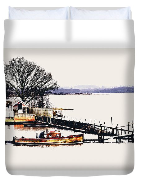 Duvet Cover featuring the photograph Lady Jean by Jeremy Lavender Photography