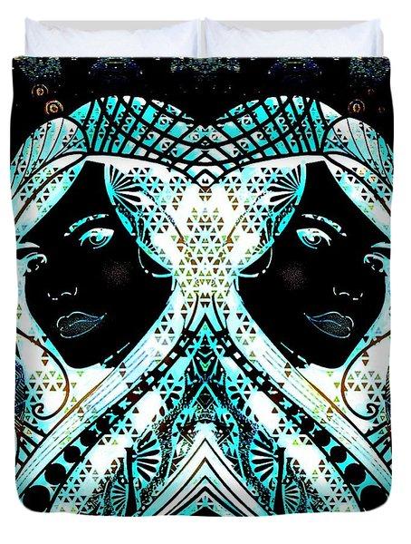 Lady Karma Duvet Cover