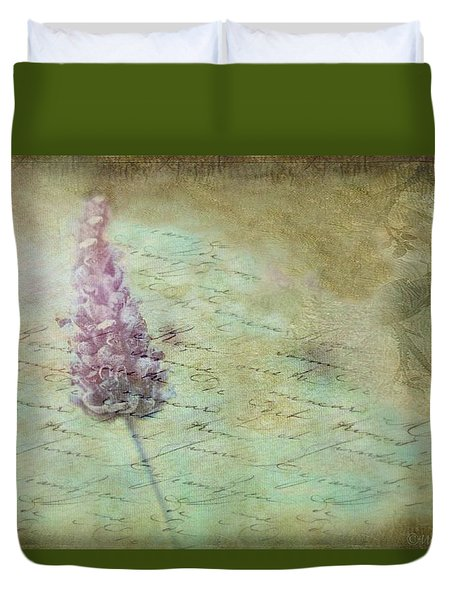 Lady Lavender Duvet Cover by Wallaroo Images