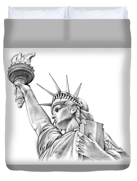 Lady Liberty Duvet Cover by Greg Joens