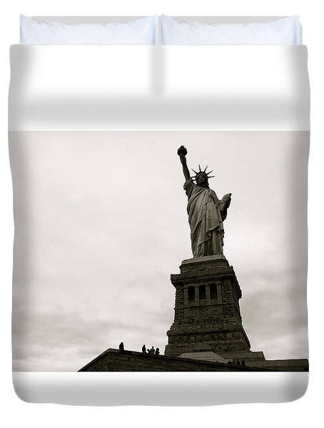 Lady Liberty Duvet Cover by Mark Nowoslawski