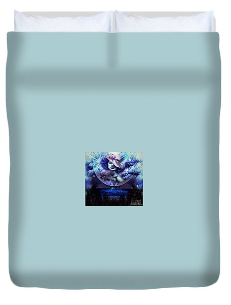 Lady Moon Light  Duvet Cover