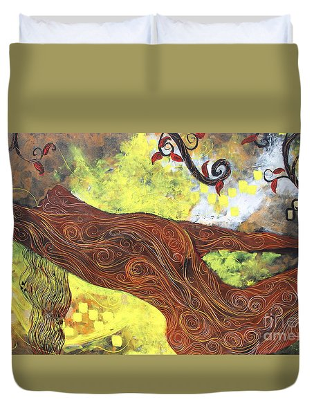 Lady Of Elation Duvet Cover