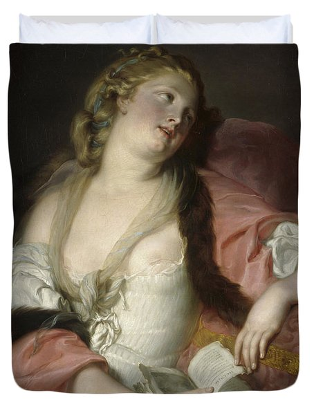 Lady Reading The Letters Of Heloise And Abelard Duvet Cover