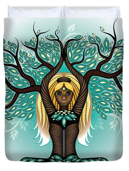 Lady Shaman Tree Duvet Cover