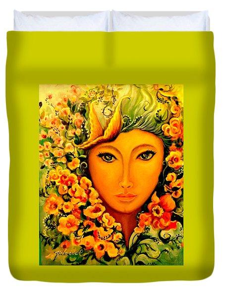 Lady Sring Duvet Cover by Yolanda Rodriguez