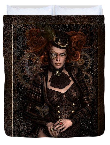 Lady Steampunk Duvet Cover