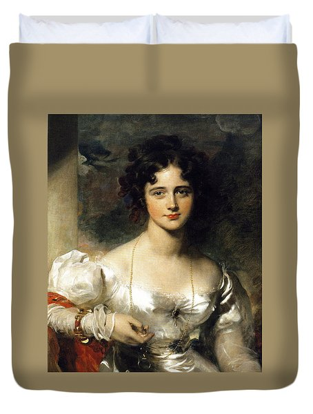 Lady Duvet Cover by Thomas Lawrence