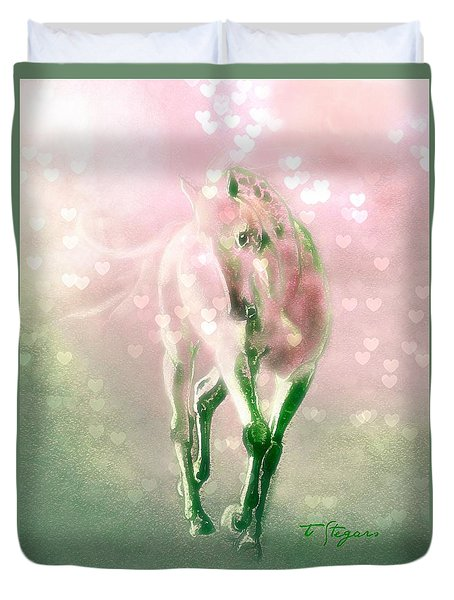 Lady Valentine Duvet Cover