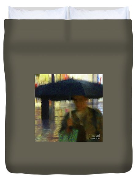 Duvet Cover featuring the photograph Lady With Umbrella by LemonArt Photography
