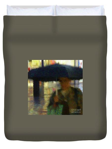 Lady With Umbrella Duvet Cover