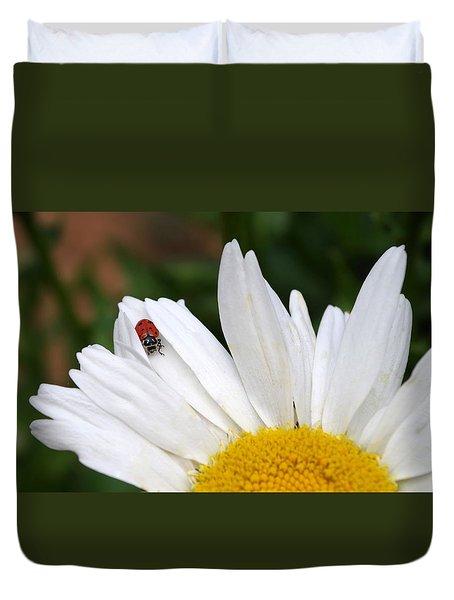 Ladybug On Flower Duvet Cover