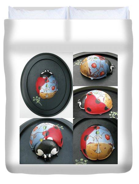 Ladybug On The Half Shell Duvet Cover