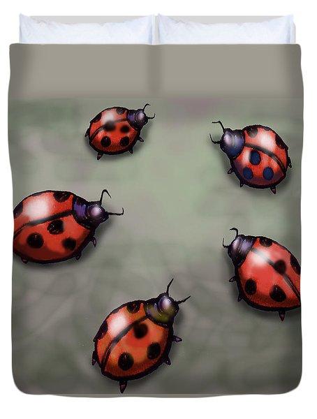 Ladybugs Duvet Cover by Kevin Middleton