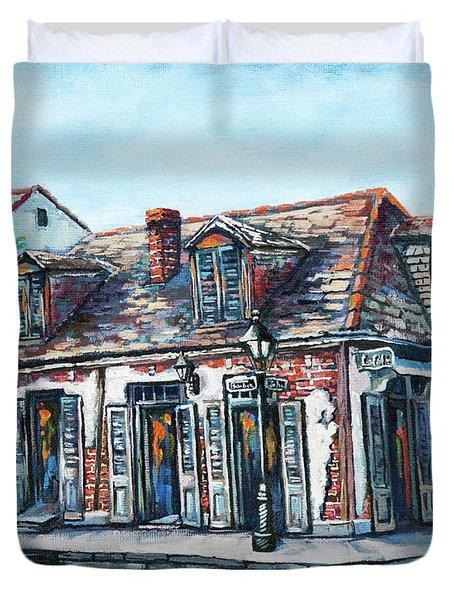 Lafitte's Blacksmith Shop Duvet Cover
