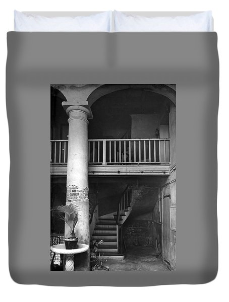 Lafittes Patio At The Absinthe House Duvet Cover