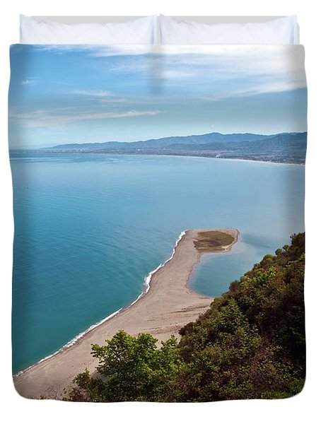 Lagoon Of Tindari On The Isle Of Sicily  Duvet Cover