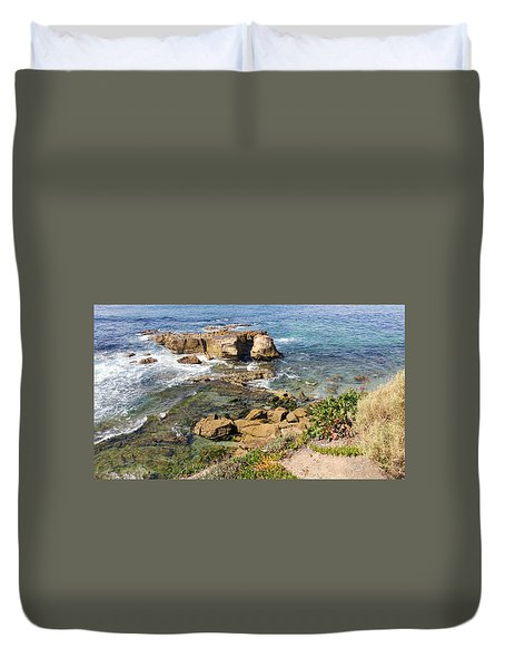 Laguna Beach California Duvet Cover