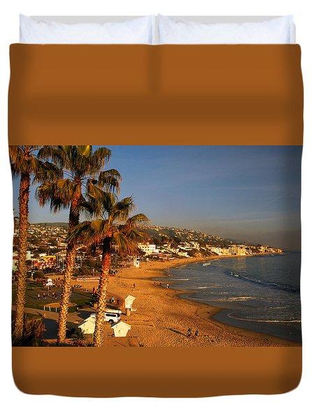 Duvet Cover featuring the photograph Laguna Beach Vista by James Kirkikis