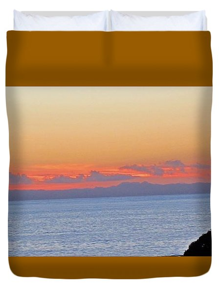 Laguna Orange Sky Duvet Cover