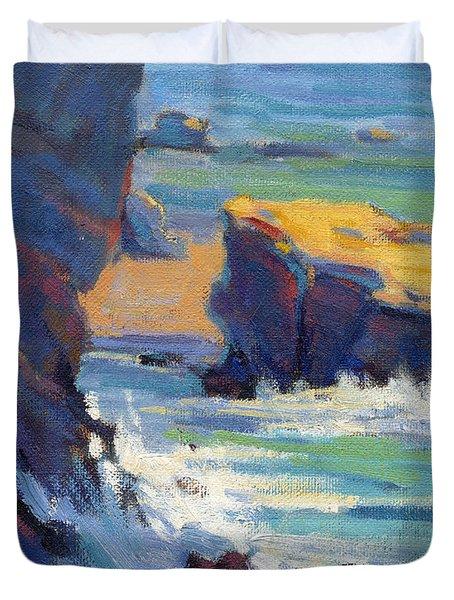 Laguna Rocks Duvet Cover