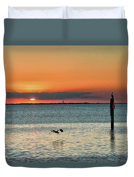 Laguna Vista Sunset Duvet Cover