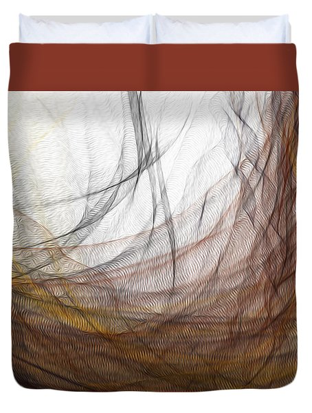 Duvet Cover featuring the digital art Lairing by Constance Krejci