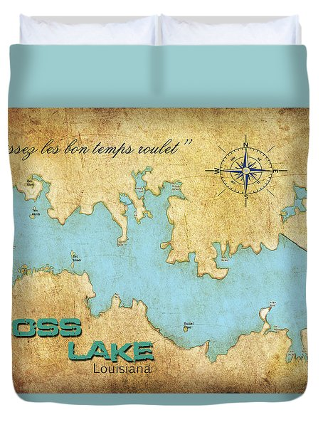 Duvet Cover featuring the digital art Laissez Les Bon Temps Roulet - Cross Lake, La by Greg Sharpe