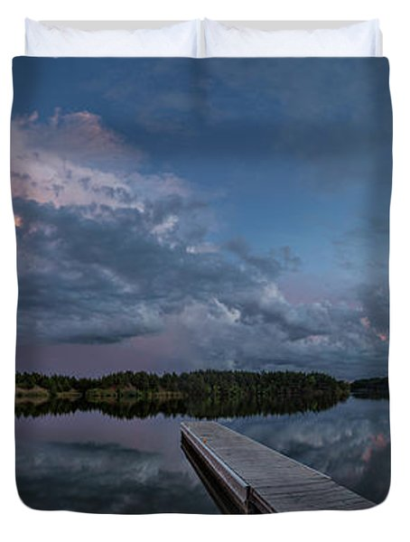 Lake Alvin Supercell Duvet Cover