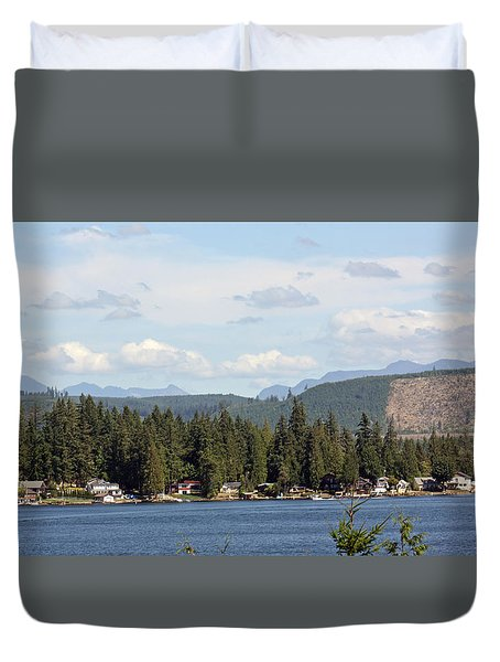 Lake And Mountains Duvet Cover