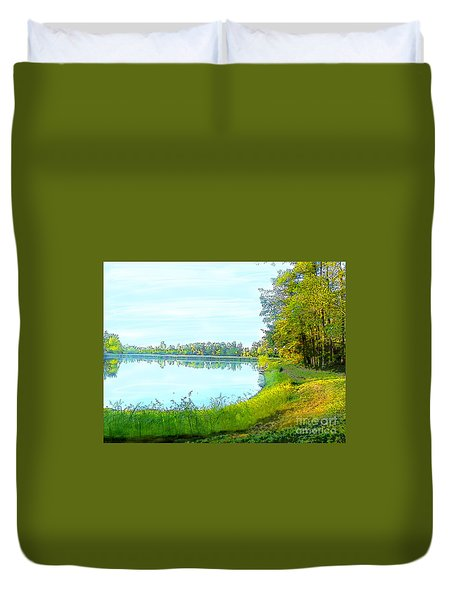 Lake And Woods Duvet Cover