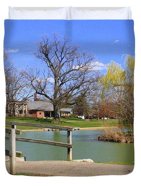 Lake At Schiller Park Duvet Cover