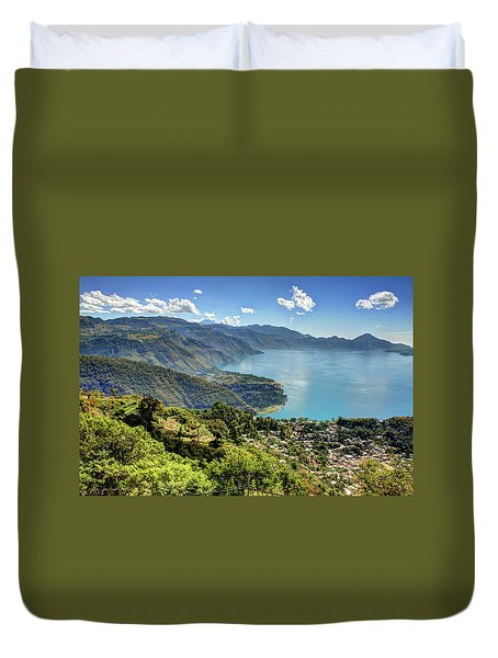 Lake Atitlan Duvet Cover