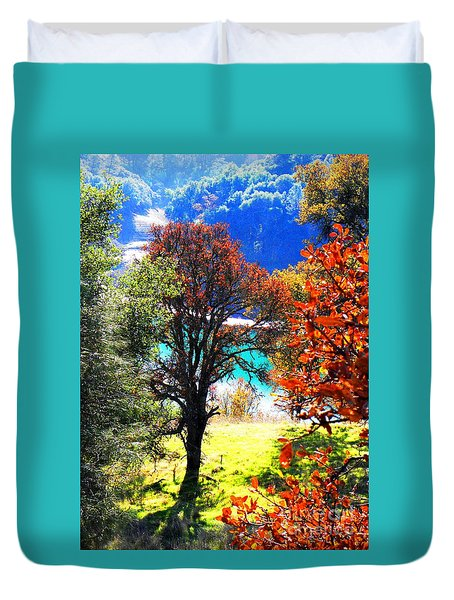 Lake Berryessa Duvet Cover