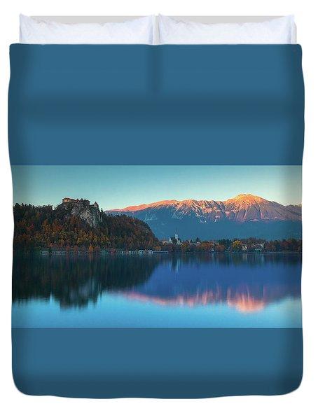 Lake Bled Panorama Duvet Cover