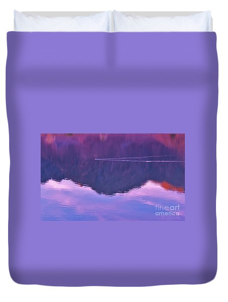 Lake Cahuilla Reflection Duvet Cover by Michele Penner