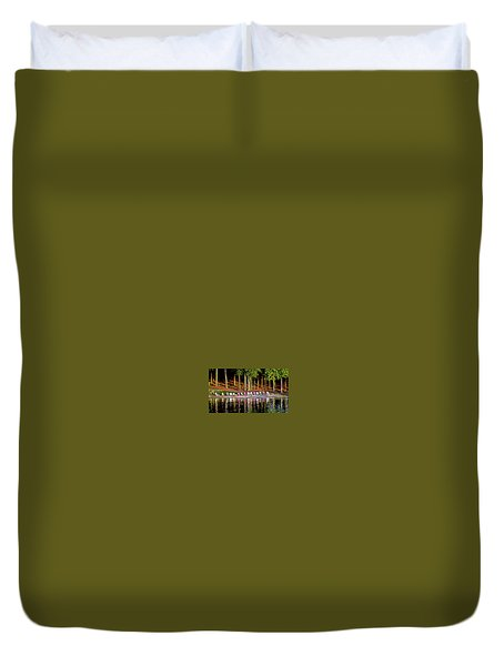 Lake Chairs Duvet Cover