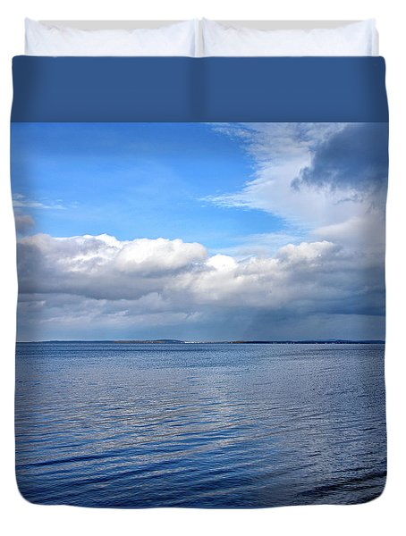 Duvet Cover featuring the photograph Lake Champlain From New York by Brendan Reals