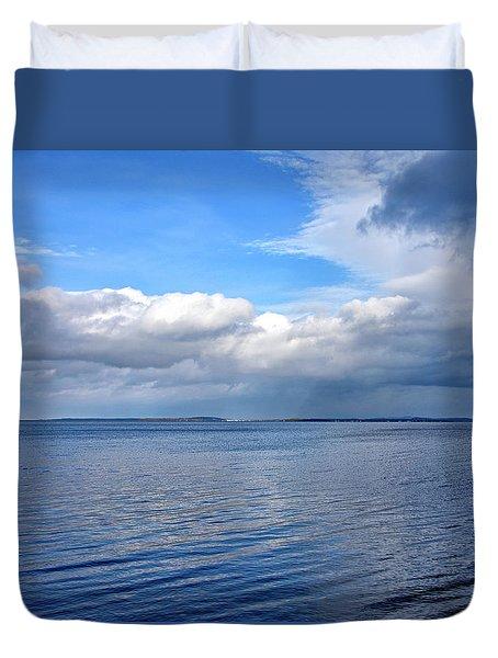 Lake Champlain From New York Duvet Cover by Brendan Reals