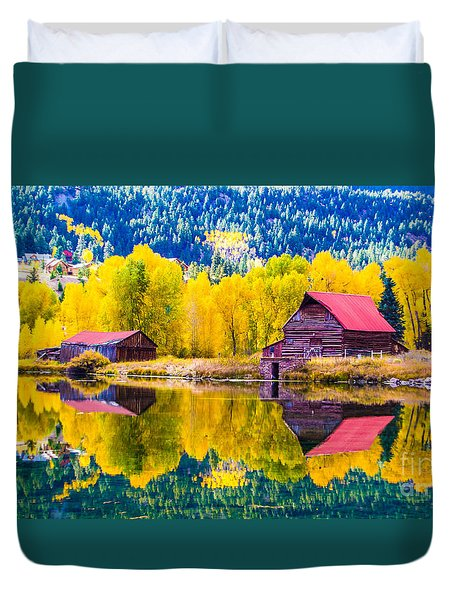 Lake City Reflections Duvet Cover