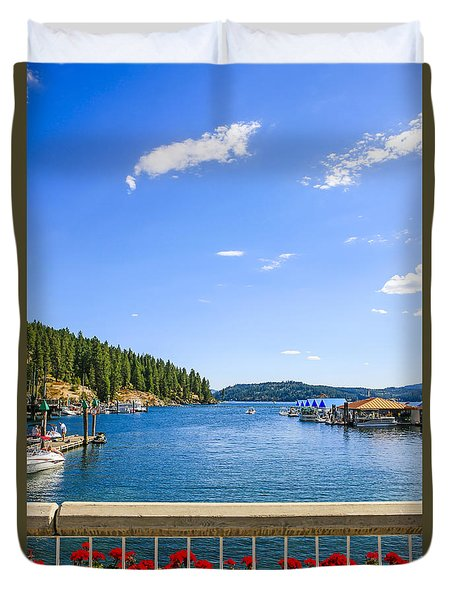Lake Coeur D'alene Idaho Duvet Cover