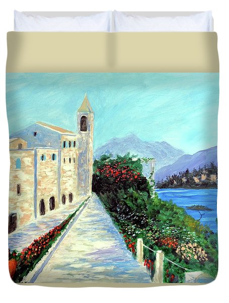 Lake Como Colors  Duvet Cover