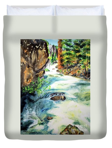 Lake Como Waterfall Duvet Cover by Tracy Rose Moyers