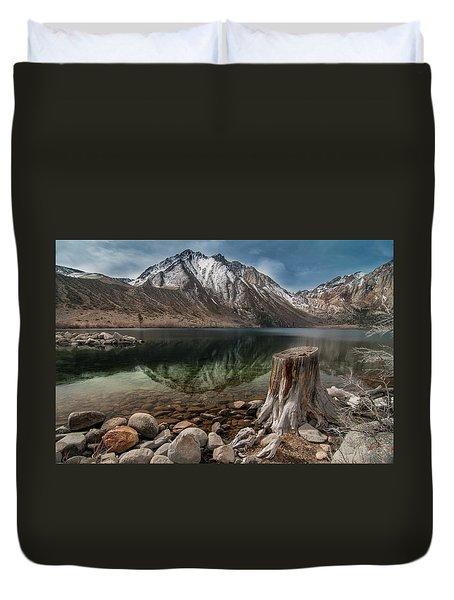 Lake Convict Tree Stump Duvet Cover by Ralph Vazquez