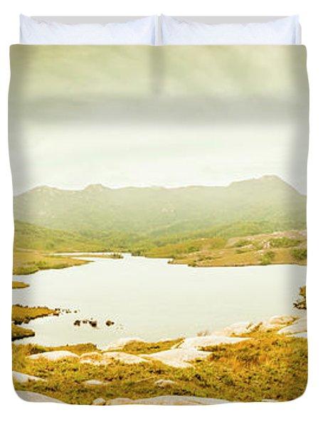 Lake Cumberland, Western Tasmania Duvet Cover