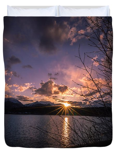 Lake Dillon Evening Sunset Duvet Cover