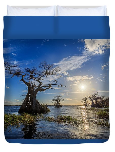 Lake Disston Cypress Paradise Duvet Cover