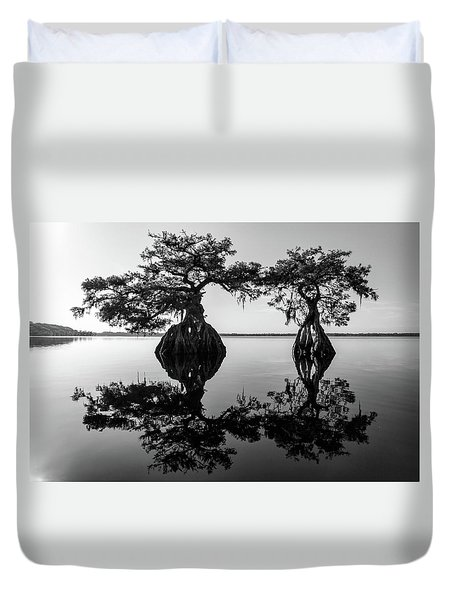 Lake Disston Old Couple Duvet Cover