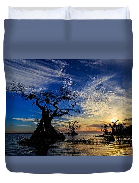 Lake Disston Sunset Duvet Cover