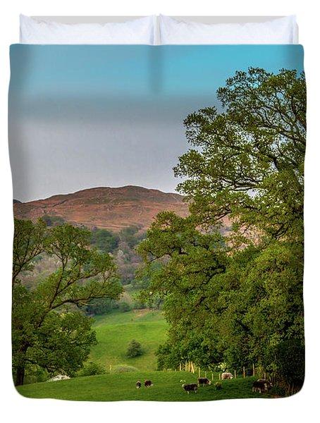 Lake District Pastoral Duvet Cover